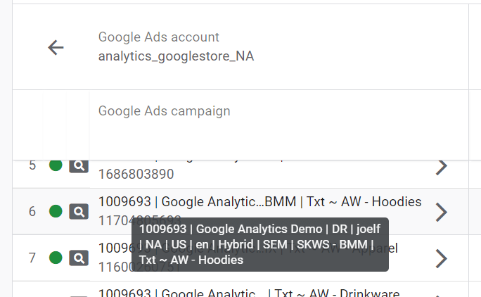 Example Google Ad Campaign Name